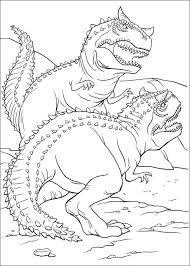 Dinosaur Fighting Coloring Page