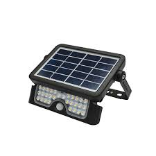 Defender Flood Lights Defender 5 Watt Solar Led Floodlight With Sensor Black Neutral White