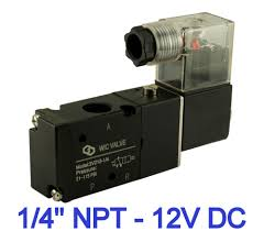 way air valve 1 4 inch pneumatic 3 way 2 position electric solenoid air control valve 12v dc