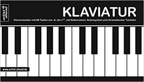 Gerade für sehr junge anfänger*innen am klavier ist die farbliche markierung eine gute. Klaviatur Ausklappbare Klaviertastatur Mit 88 Tasten Von A Bis C Mit Notennamen Notensystem Chromatischer Tonleiter Fingerubungen Chromatischer Tonleiter 360g Kartonpapier Amazon De Artist Ahead Bucher