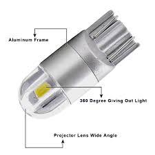 Amazon Rv Interior Lights T10 Led Light Wedge Bulbs Muhize Super Bright 6000k White