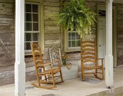 amish ash wood outdoor ladderback rocking chair