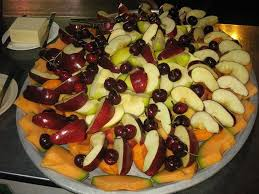 cantaloupe apples and cherries
