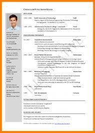 Standard Resume Format 6 Standard Cv Format Free Download Janitor