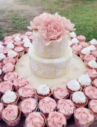 6 2 Tier Wedding Cakes With Cupcakes Photo Wedding Cake With