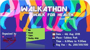 Walkathon Walk For Health At Cubbon Road Bangalore