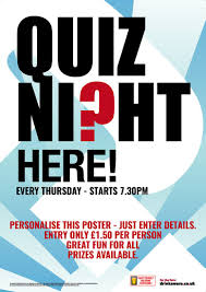 trivia night flyer templates quiz night flyer a5 promote your pub