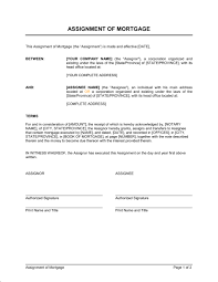 Assignment Of Mortgage Template Word Pdf By Business In A Box