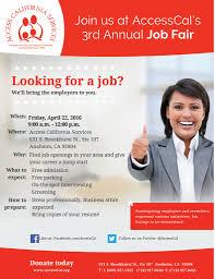 join us at s rd annual job fair access california job fair 2016