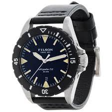 filson dutch harbor watch for men save 53% filson dutch harbor watch 43mm black leather strap for men in black