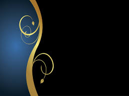 Blue And Gold Powerpoint Template Gold Black Floral Walking Powerpoint Templates Abstract Black