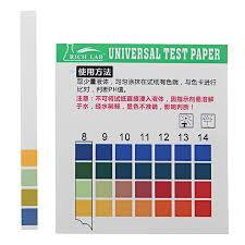 Universal Ph Test Strips Full Range 1 14 Indicator Paper Tester 100 Strips Boxed W Color Chart