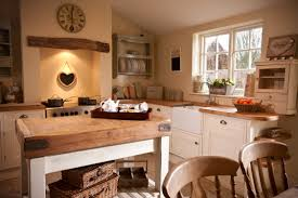 Country Kitchen With Island Gorgeous Cottage Country Kitchen Farmhouse Butchers Block Kitchen