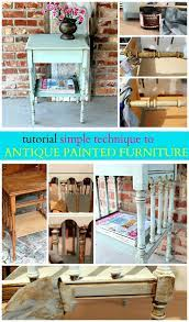 how to antique painted wood furniture