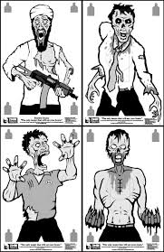 zombie_targets a crip with a gun! other targets on printable targets for zeroing