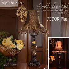 gorgeous birds fringe shade ed glass like decorative table lamp