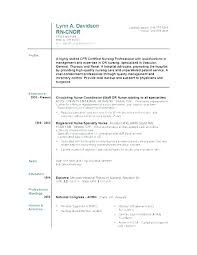 Example Of Nursing Resume – Resume Pro