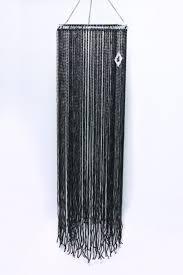 black beaded lamp shade