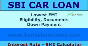 Sbi Car Loan Interest Rate 9 20 July 2017 Emi