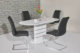 Small Oval White High Gloss Dining Table 4 Chairs Angry Chair