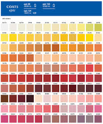 Coats Epic Thread Color Chart Coats Threads Epic 80