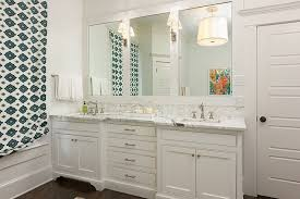 double vanity with two mirrors. one large mirror or two individual mirrors over double vanity for bathroom with r