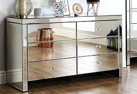 Ikea mirrored furniture Upcycle Glass Revolumbiinfo Glass Chest Of Drawers Decorating With Mirrored Furniture Mirrored