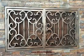 fireplace doors wrought iron. Inside Fitting Door Fireplace Doors Wrought Iron U