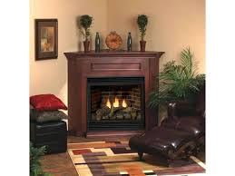 corner direct vent gas fireplace vent free fireplace system with white