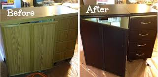 sewing cabinet makeover for my un sewing room