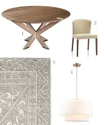 newton table huston company 2 curran crema dining chair crate barrel 3 mirabelle rug serena lily 4 tiered drum pendant rejuvenation