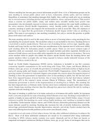 argumentative essay about banning smoking should smoking be banned a well written essay example