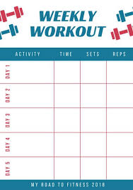 fitness timetable template red and blue workout schedule planner templates by canva
