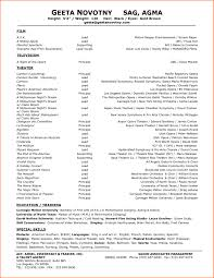 Beginner Actor Resume Sample Resume for Acting Free for Download Cover Letter Backgrounds theatre 53