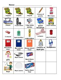 Student Centered Chart For Collecting Student School Supplies