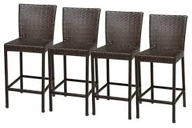 tk classics napa outdoor wicker bar stools espresso set of 4