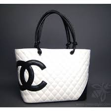 Chanel White Cambon Quilted Large Tote Bag & Authentic Chanel White Cambon Quilted Large Tote Bag Adamdwight.com