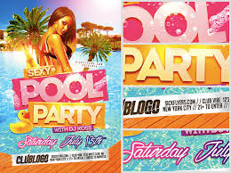pool party flyer template blank. Unique Template Summer Party Flyer Template Blank Sexy Pool  Flyerheroes For Pool Party Flyer Template Blank I
