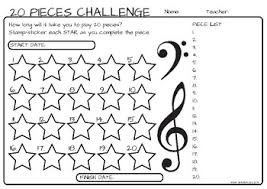 20 Chart Music 20 Musical Piece Challenge Chart And Award By Remifa Music