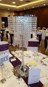80cm crystal chandeliers and 80cm crystal droplets these are perfect for creating a touch of glamour and sparkle to your tables and ideal for weddings