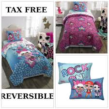 details about l o l surprise doll bedding set twin size comforter sheets pillowcase girls bed