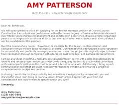 Management Cover Letter Project Manager Cover Letter Examples Samples Templates