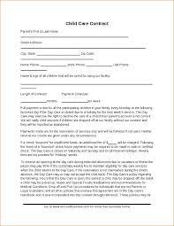 Daycare Contract Template Daycare Contract Template Free Example 324