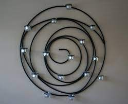 pottery barn spiral candle holder in