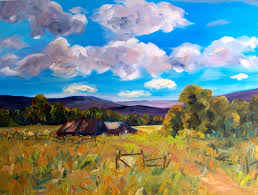 contemporary landscape painting by colorado artist barbyatesdudding