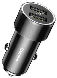 Автомобильная <b>зарядка Baseus Small</b> Screw 3.4A Dual-USB Type ...
