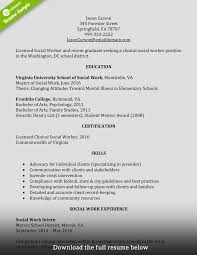 Sample Social Work Resume How to Write a Perfect Social Worker Resume Examples Included 15