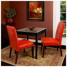 Red Dining Room Chairs Dining Room Teetotal White Leather Dining Chairs With Black Legs