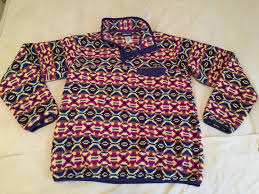 Patagonia Patterned Fleece Enchanting Patagonia Patterned Synchilla Snapt Fleece Pullover Size 48 L
