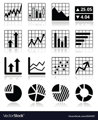 Free Stock Market Charts And Graphs Stock Market Analysis Chart And Graph Icons Set